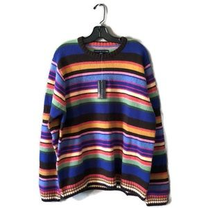 NWT Tommy Hilfiger Wool & Angora Striped Sweater